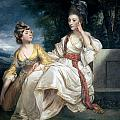 Mrs Thrale and her Daughter Hester Print by Sir Joshua Reynolds