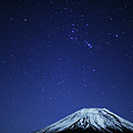 Mt.fuji And Winter Stars Poster by Takeshi.K