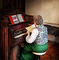 Music - Organist - The lord is my shepherd  Poster by Mike Savad