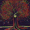 Mystic Spiral Tree red by jrr Poster by First Star Art