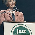 Nancy Reagan Speaking At A Just Say No Poster by Everett