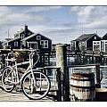 Nantucket Bikes 1 Print by Tammy Wetzel
