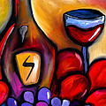 Napa Mix - Abstract Wine Art by Fidostudio Print by Tom Fedro - Fidostudio