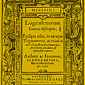 Napiers Treatise On Logarithms Print by Photo Researchers