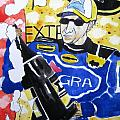 Nascar Mark Martin Poster by Lesley Giles