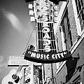 nashville crossroads music city ernest tubbs record shop on broadway downtown Nashville Tennessee US Print by Joe Fox