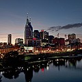 Nashville Skyline And The Cumberland Poster by Everett