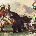 Native American Indian Bear Hunt, 19th Poster by Photo Researchers