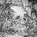 Nativity Poster by Rembrandt