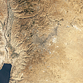 Natural-color Satellite View Of Amman Print by Stocktrek Images