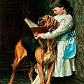 Naughty Boy or Compulsory Education Print by Briton Riviere