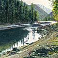 Near Horse Creek Print by Steve Spencer