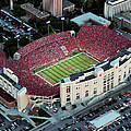 Nebraska Aerial View of Memorial Stadium  Print by PRANGE Aerial Photography