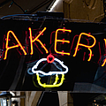 Neon Bakery Sign Print by Inti St. Clair