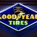 Neon Goodyear Tires Sign Print by Mike McGlothlen