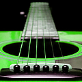 Neon Green Guitar 18 Poster by Andee Photography