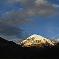 Nevado Sajama at sunset. Republic of Bolivia.  Print by Eric Bauer