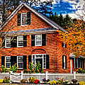 New England Brickhouse Print by Thomas Schoeller