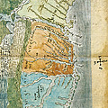 New England To Virginia, 1651 Print by Photo Researchers