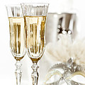 New Year Champagne Print by Amanda And Christopher Elwell