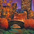 New York City Night Autumn Poster by JOHNATHAN HARRIS