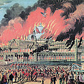 New York Crystal Palace Fire, 1858 Print by Photo Researchers