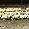 New York Yankees Baseball Team Posed Print by PG REPRODUCTIONS