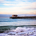 Newport Beach CA Pier at Sunrise Poster by Paul Velgos