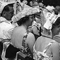 Newspaper Hats Print by Fox Photos