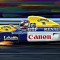 Nigel Mansell Williams FW14B Poster by David Kyte