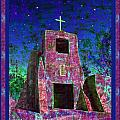 Night Magic San Miguel Mission Print by Kurt Van Wagner