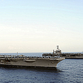 Nimitz-class Aircraft Carriers Transit Print by Stocktrek Images