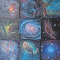 Nine Nebulae Print by Alizey Khan