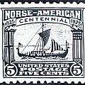 Norse-American Centennial Stamp Print by James Neill