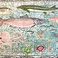 Northwest Fish Mural Poster by Dy Witt