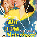 Notorious, Cary Grant, Ingrid Bergman Poster by Everett
