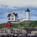 Nubble Light at Dusk Poster by Eric Gendron