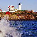 Nubble Lighthouse in Daylight Print by Jeremy Woodhouse