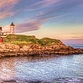 Nubble Lighthouse Print by Mark Stewart