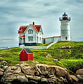 Nubble Lighthouse Poster by Tricia Marchlik
