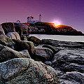 Nubble Rocks Print by Emily Stauring