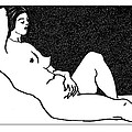 nude sketch 61 Poster by Leonid Petrushin