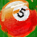 Number Five Billiards Ball Abstract by David G Paul