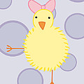 Nursery Art Baby Bird Poster by Christy Beckwith