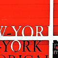 NYC Abstract in Red and Black Print by Anahi DeCanio
