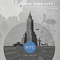 NYC Poster Poster by Naxart Studio