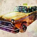NYC Yellow Cab Poster by Michael Tompsett
