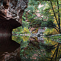 Oak Creek Canyon Reflections Poster by Dave Dilli
