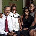 Obama Family Official Portrait By Annie Print by Everett