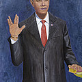 Obama Taking the Oath of Office Print by TC North